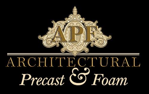 Gold and Cream Architectural Precast & Foam Logo